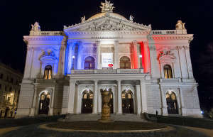 Státy a města po celém světě projevovala s Paříží solidaritu. I Brno. Foto: Jitka Janů/LeMUr.mu