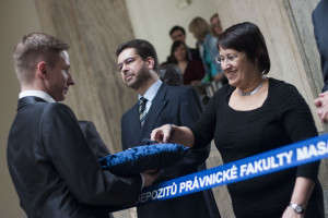 Naděžda Rozehnalová byla předchozí děkankou na Právnické fakultě. Foto: Jitka Janů/LeMUr.mu