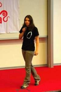 Martina Žižlavská je lokální prezidentkou brněnské pobočky IFMSA. Foto: Valná hromada IFMSA CZ v Ostravě